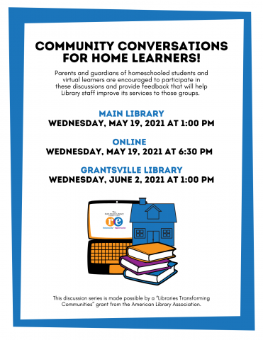 Community Conversation for Home Learners Homeschool